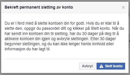 luk facebook konto